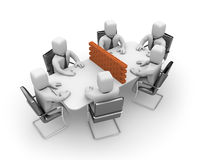 Difficult negotiations Stock Photo