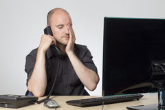 Difficult phone call Stock Image