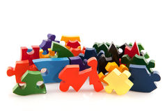 Difficult puzzle Royalty Free Stock Images