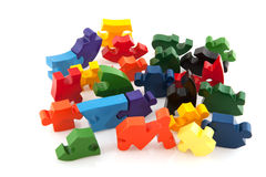 Difficult puzzle Stock Photo