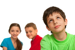 Difficult relations of kids Stock Photography