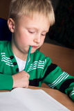 Difficult school homework Stock Photos