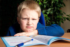 Difficult school homework Stock Photography