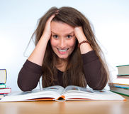 Difficult studies Stock Image