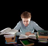 Difficult study Royalty Free Stock Photos
