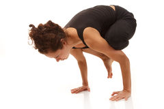 Difficult yoga exercise Stock Photography