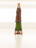 Difficult yoga pose front view Royalty Free Stock Photos