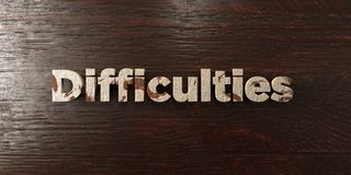 Difficulties - grungy wooden headline on Maple  - 3D rendered royalty free stock image Royalty Free Stock Image