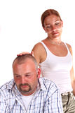 Difficulties between woman and man Stock Images