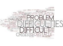 Difficulties Word Cloud Concept Stock Images