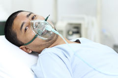 Difficulty Of Breathing Royalty Free Stock Images