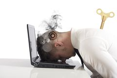 Difficulty in business. Concept of stress and difficulty in business Stock Photo