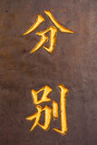 Diffirent chinese words Stock Photography
