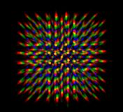 Diffraction of light from the LED array Royalty Free Stock Photos