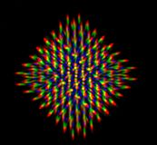 Diffraction of light from the LED array Stock Images