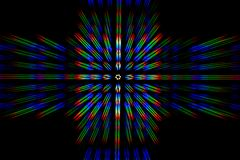 Diffraction of light from the LED array Royalty Free Stock Image