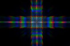 Diffraction of light from the LED array Stock Image