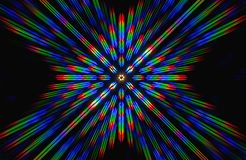 Diffraction of light from the LED array Stock Photo