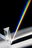 Diffraction of Sunlight through Glass Prism. Light Spectrum - Colors of the Rainbow Royalty Free Stock Photography