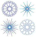 Diffrent snowflakes vector Royalty Free Stock Photo