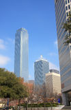 Diffrent style modern building in Dallas. Diffrent modern buildings in downtown of Dallas,Texas USA Royalty Free Stock Image