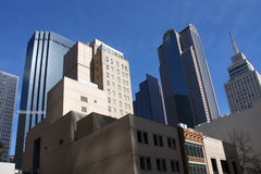 Diffrent style modern buildings in Dallas. Different style office buildings in downtown of Dallas, Texas Royalty Free Stock Image