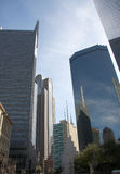 Diffrent style of skyscrapers in Dallas Royalty Free Stock Images