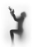 Diffus silhouette av en be human royaltyfria bilder