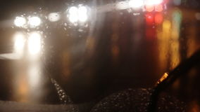 Diffused background with blurring lights of cars on the road of a big city. stock footage