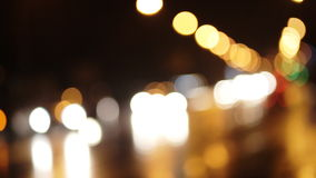 Diffused background with blurring lights of cars on the road of a big city. stock video