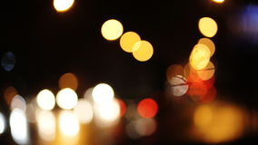 Diffused background with blurring lights of cars on the road of a big city. stock video footage