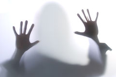 Diffused Silhouette of a woman Stock Photography