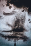 Diffusion abstraite noire de taches d'encre de fond Images stock