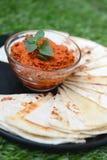 Diffusion chaude saine avec des coupes de tortilla Photographie stock libre de droits
