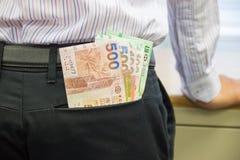 diffusion d'argent liquide Images libres de droits