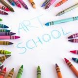 Diffusion de crayons d'isolement sur le fond blanc Photographie stock libre de droits