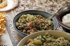 Diffusion de jour de thanksgiving - Tabouleh fait maison images libres de droits