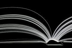 Diffusion noire et blanche de double-page Photo libre de droits