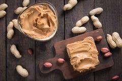 Diffusione del burro di arachidi Immagine Stock Libera da Diritti