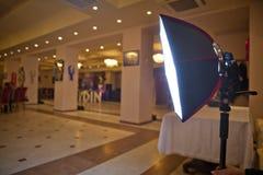 diffusore della Morbido scatola per il flash di Velocità-lite Quantum della Velocità-luce Il compleanno utilizza una morbido scat fotografia stock
