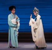 """Dificuldade da desintegração do ato de uma comunicação- sétima do  branco de Opera""""Madame Snake†das famílias-Kunqu Fotos de Stock Royalty Free"""