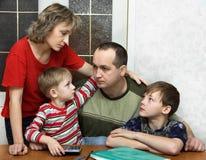 Dificuldades da família Fotos de Stock Royalty Free