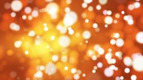 Difunda Bokeh ligero, de oro, eventos, Loopable, 4K almacen de metraje de vídeo