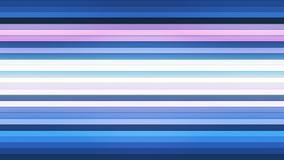 Difunda las barras de alta tecnología horizontales del centelleo, azul, extracto, Loopable, 4K ilustración del vector