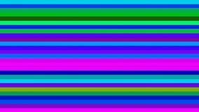 Difunda las barras de alta tecnología horizontales del centelleo, multicolor, extracto, Loopable, 4K stock de ilustración