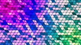 Difunda los triángulos de alta tecnología cúbicos del centelleo, multicolor, extracto, Loopable, 4K almacen de metraje de vídeo