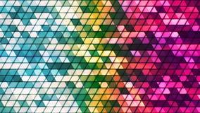 Difunda los triángulos de alta tecnología cúbicos del centelleo, multicolor, extracto, Loopable, 4K metrajes