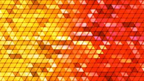 Difunda los triángulos de alta tecnología cúbicos del centelleo, multicolor, extracto, Loopable, 4K almacen de video