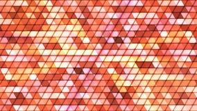 Difunda los triángulos de alta tecnología cúbicos del centelleo, naranja, extracto, Loopable, 4K metrajes