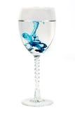 Difusão azul em um vidro Fotos de Stock Royalty Free